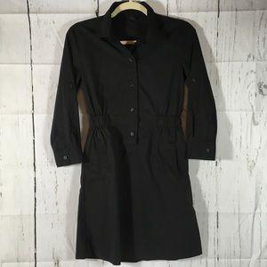 Banana Republic Black Button Up Shirt Dress